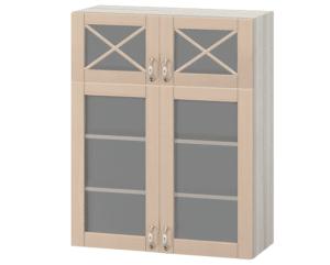Кухонный навесной шкаф со стеклом Массив 80 см МВ-78В  14450  рублей, фото 1 | интернет-магазин Складно