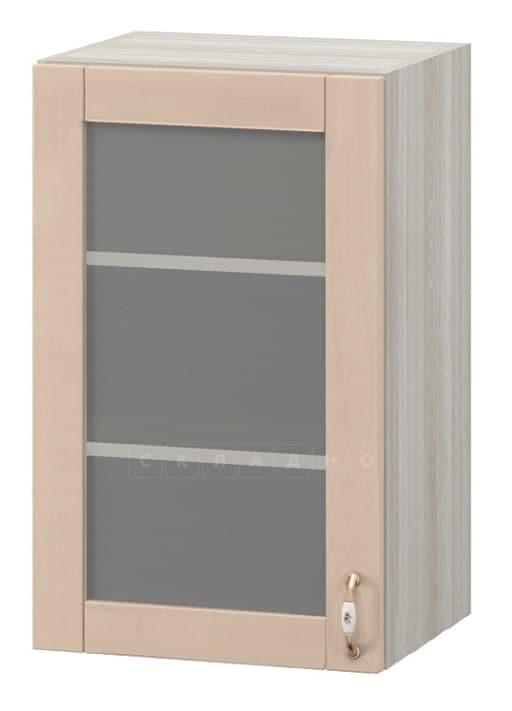 Кухонный навесной шкаф со стеклом Массив 45 см МВ-83в фото 1   интернет-магазин Складно