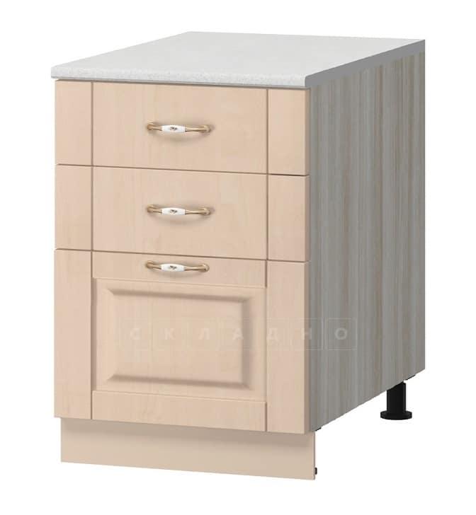 Кухонный шкаф напольный Массив 50 см МН-76 с тремя ящиками фото 1 | интернет-магазин Складно