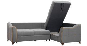 Диван-кровать угловой Флэтфорд кварцевый серый 59990 рублей, фото 4   интернет-магазин Складно