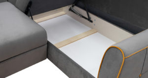 Диван-кровать угловой Флэтфорд кварцевый серый 59990 рублей, фото 7   интернет-магазин Складно