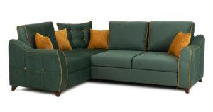 Диван-кровать угловой Флэтфорд нефритовый зеленый  59990  рублей, фото 1 | интернет-магазин Складно