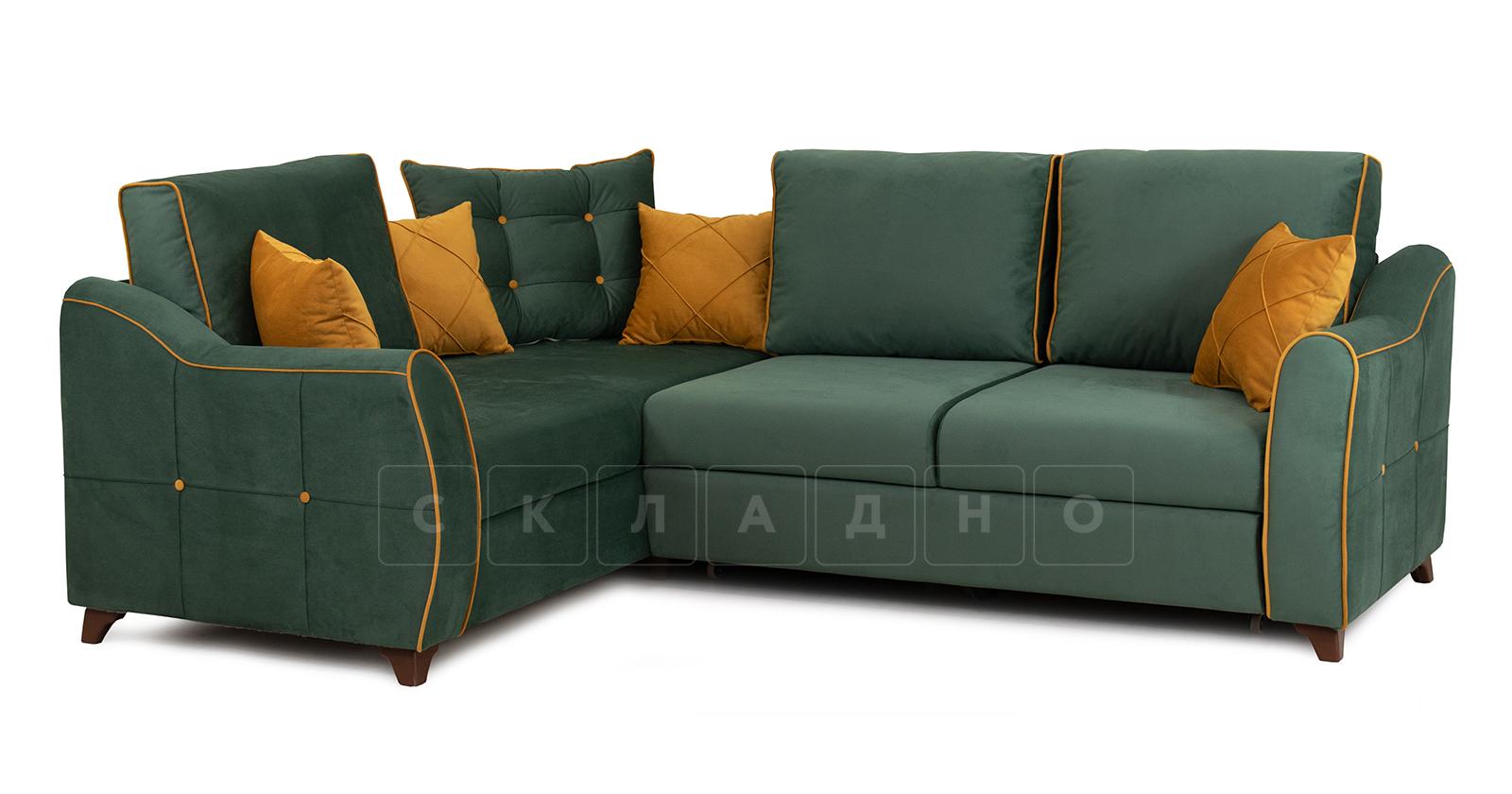 Диван-кровать угловой Флэтфорд нефритовый зеленый фото 1 | интернет-магазин Складно