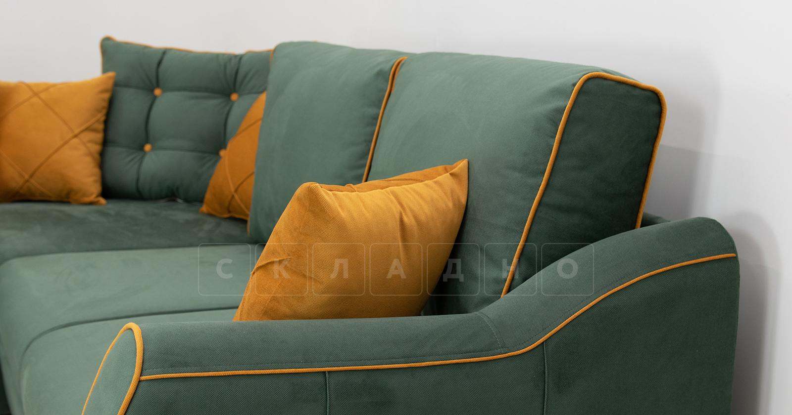 Диван-кровать угловой Флэтфорд нефритовый зеленый фото 14 | интернет-магазин Складно