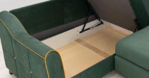 Диван-кровать угловой Флэтфорд нефритовый зеленый 59990 рублей, фото 16 | интернет-магазин Складно
