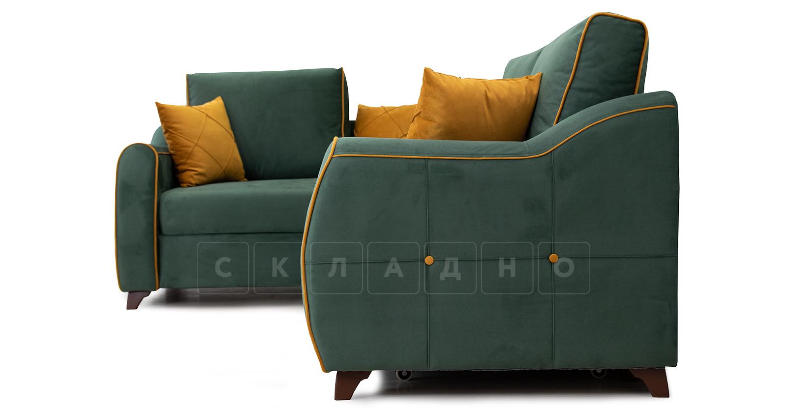 Диван-кровать угловой Флэтфорд нефритовый зеленый фото 3 | интернет-магазин Складно