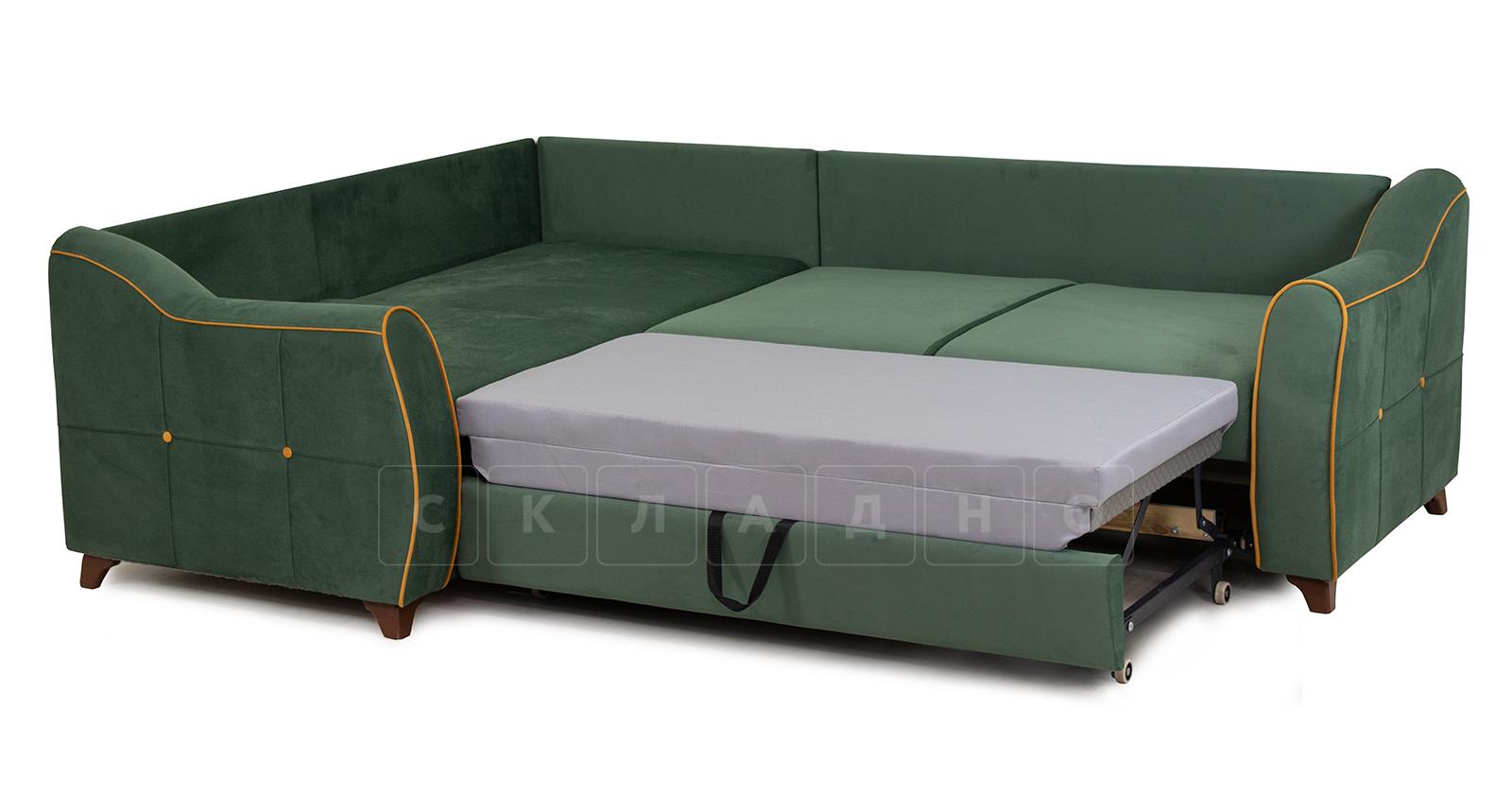 Диван-кровать угловой Флэтфорд нефритовый зеленый фото 5 | интернет-магазин Складно