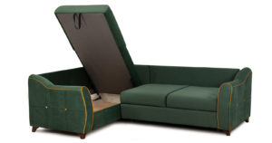 Диван-кровать угловой Флэтфорд нефритовый зеленый 59990 рублей, фото 7 | интернет-магазин Складно