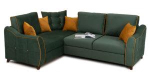 Диван-кровать угловой Флэтфорд нефритовый зеленый 59990 рублей, фото 4 | интернет-магазин Складно
