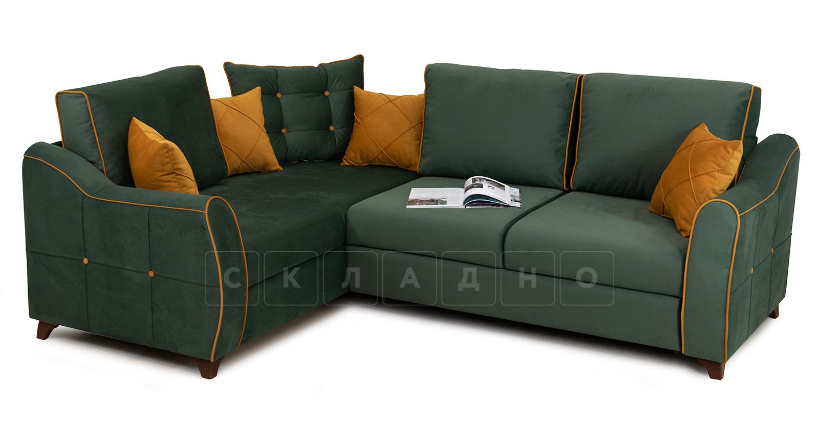 Диван-кровать угловой Флэтфорд нефритовый зеленый фото 4 | интернет-магазин Складно