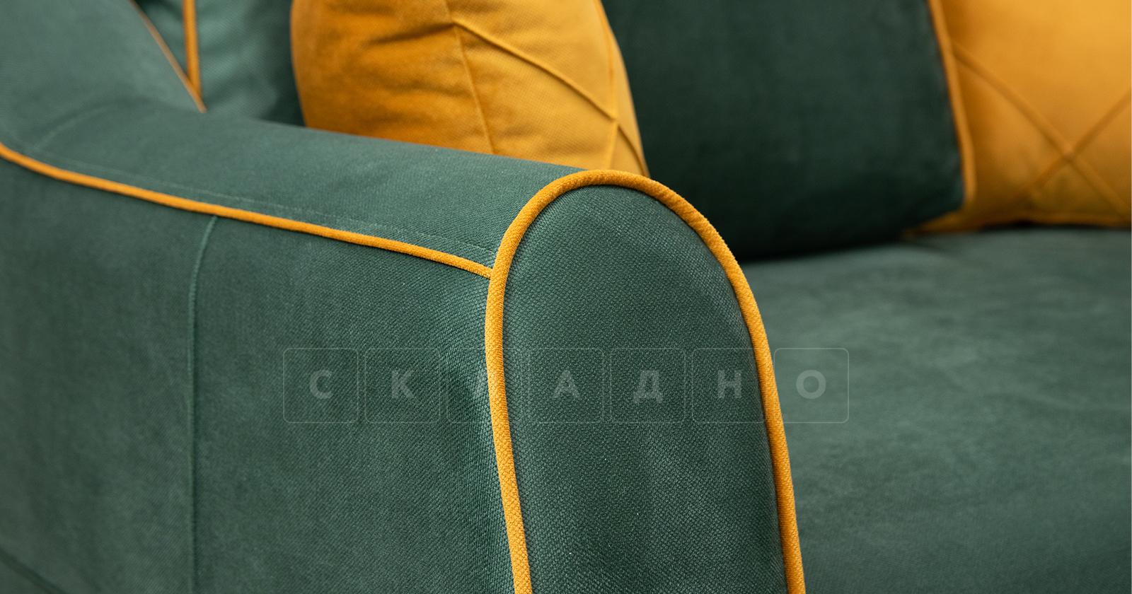 Диван-кровать угловой Флэтфорд нефритовый зеленый фото 8 | интернет-магазин Складно