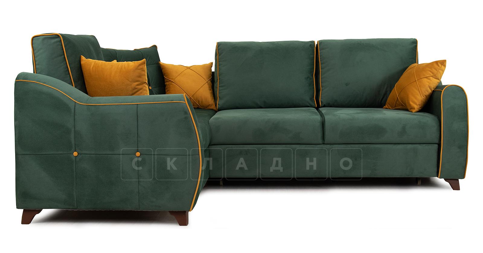 Диван-кровать угловой Флэтфорд нефритовый зеленый фото 2 | интернет-магазин Складно