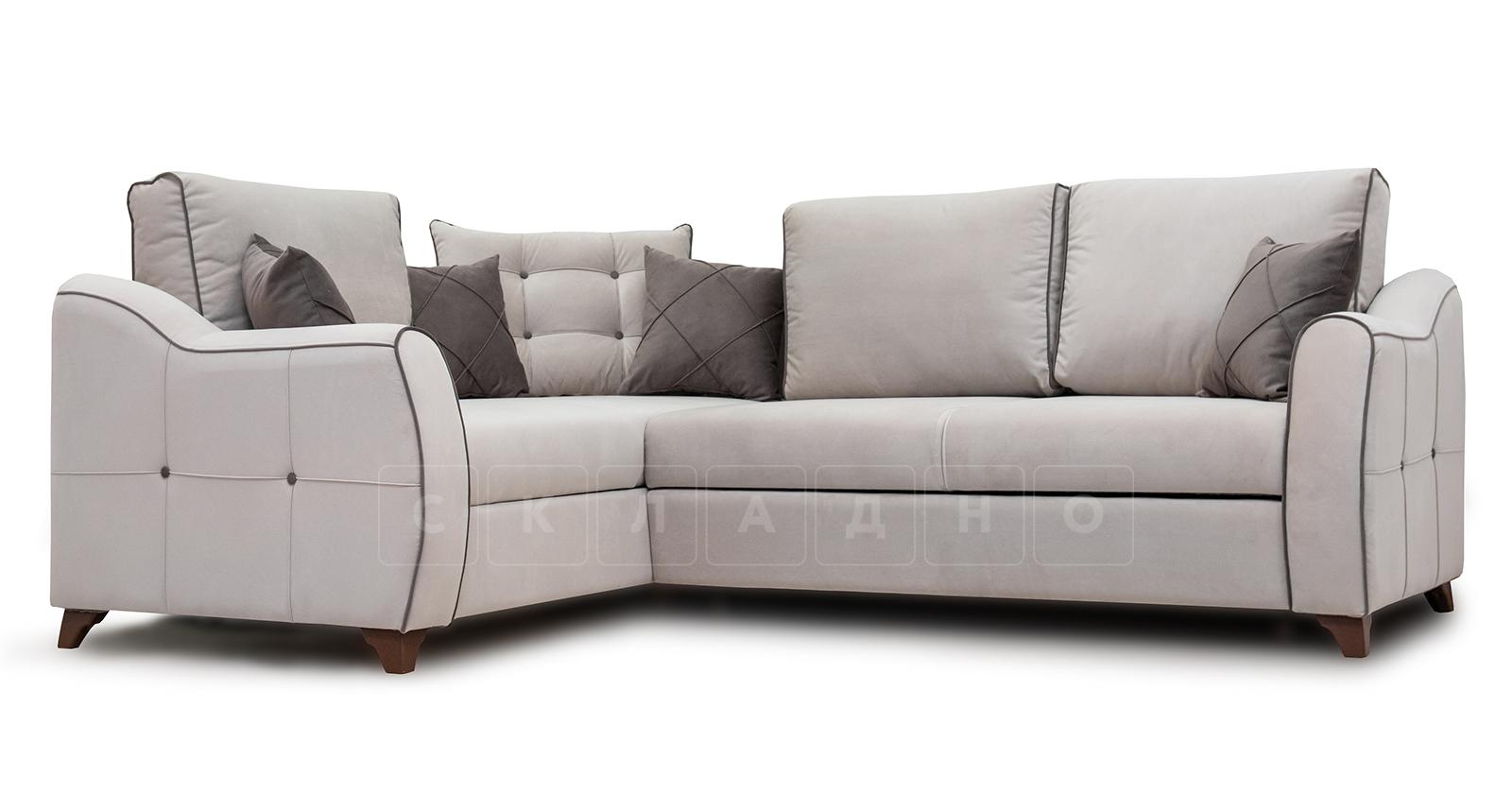 Диван-кровать угловой Флэтфорд серо-бежевый фото 1 | интернет-магазин Складно