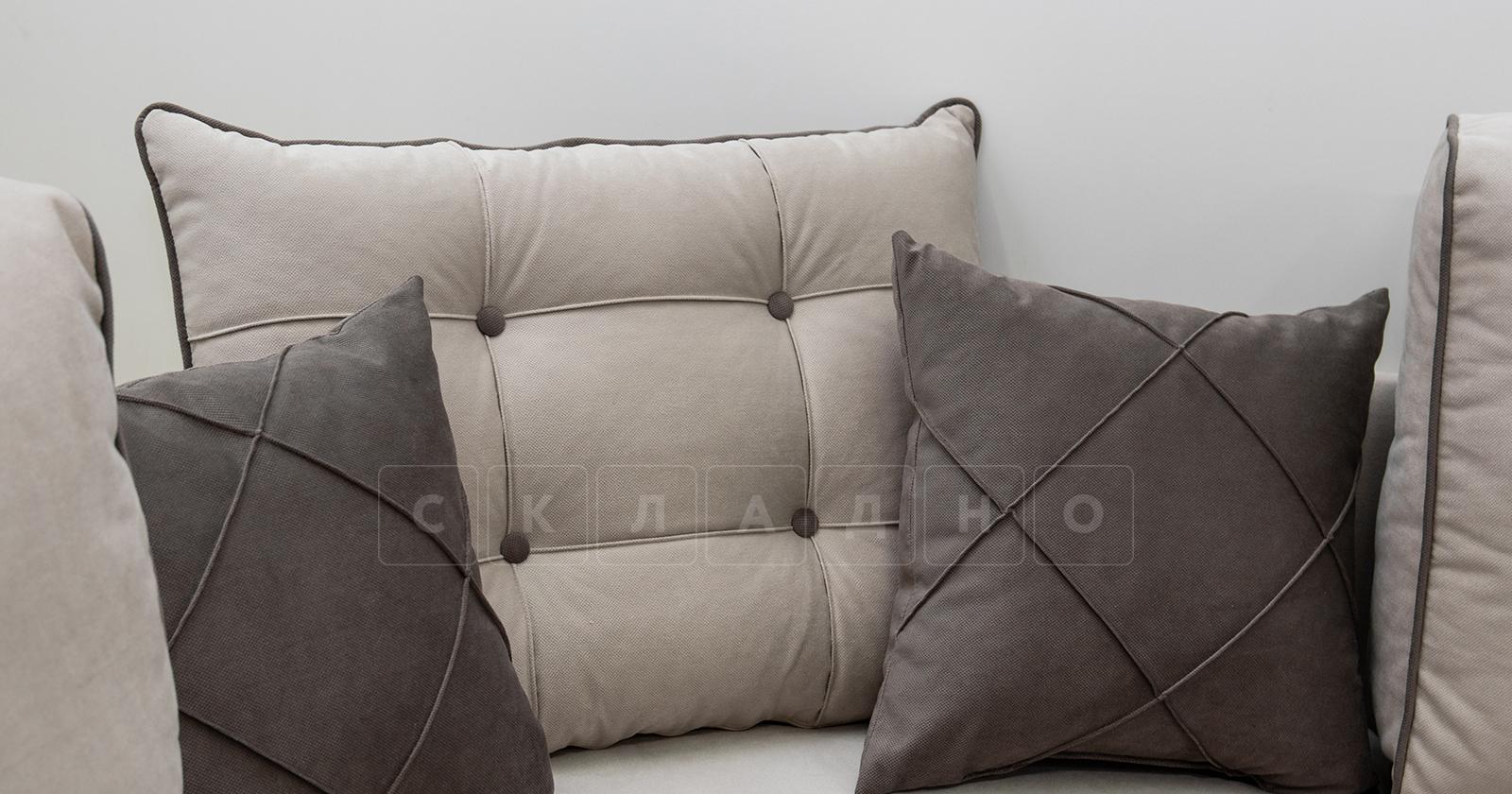 Диван-кровать угловой Флэтфорд серо-бежевый фото 11 | интернет-магазин Складно