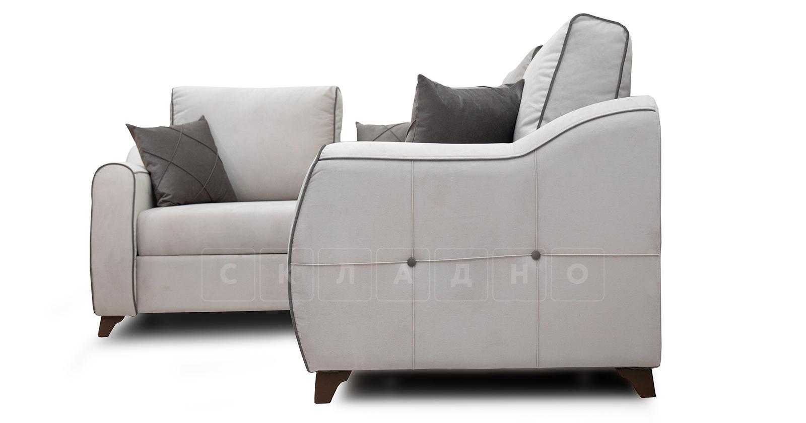 Диван-кровать угловой Флэтфорд серо-бежевый фото 3 | интернет-магазин Складно