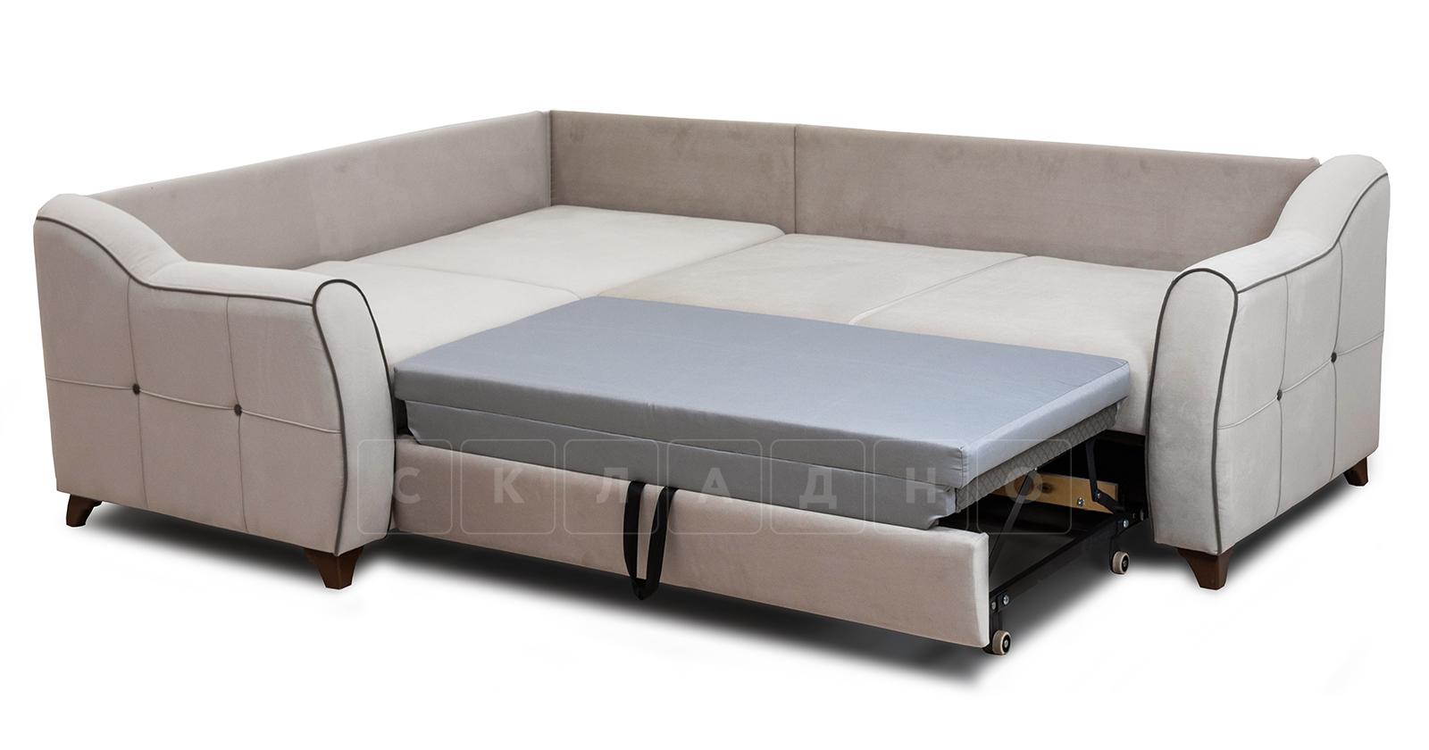 Диван-кровать угловой Флэтфорд серо-бежевый фото 5 | интернет-магазин Складно