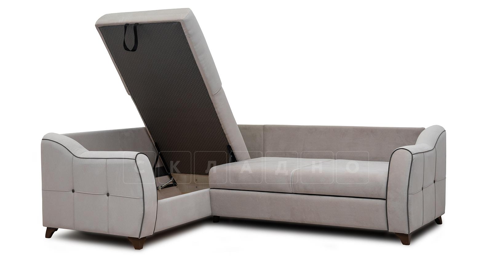 Диван-кровать угловой Флэтфорд серо-бежевый фото 6 | интернет-магазин Складно