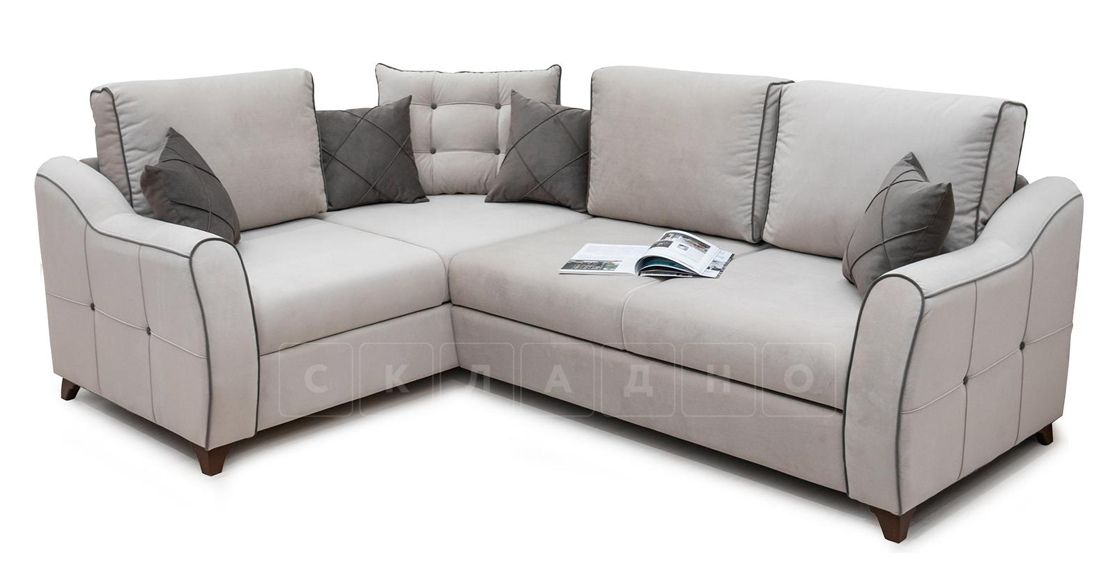Диван-кровать угловой Флэтфорд серо-бежевый фото 7 | интернет-магазин Складно