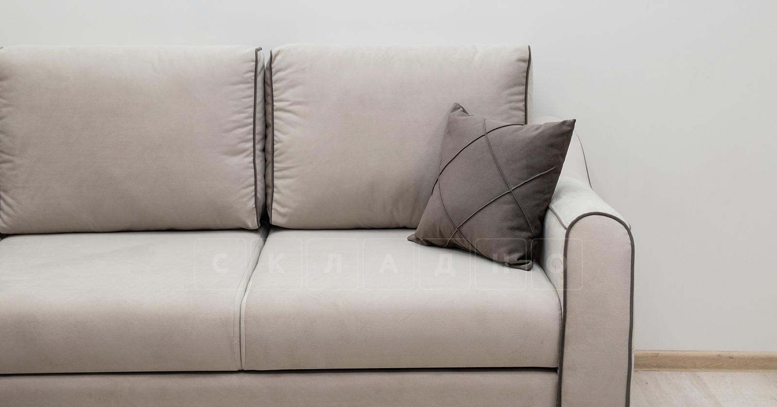Диван-кровать угловой Флэтфорд серо-бежевый фото 10 | интернет-магазин Складно