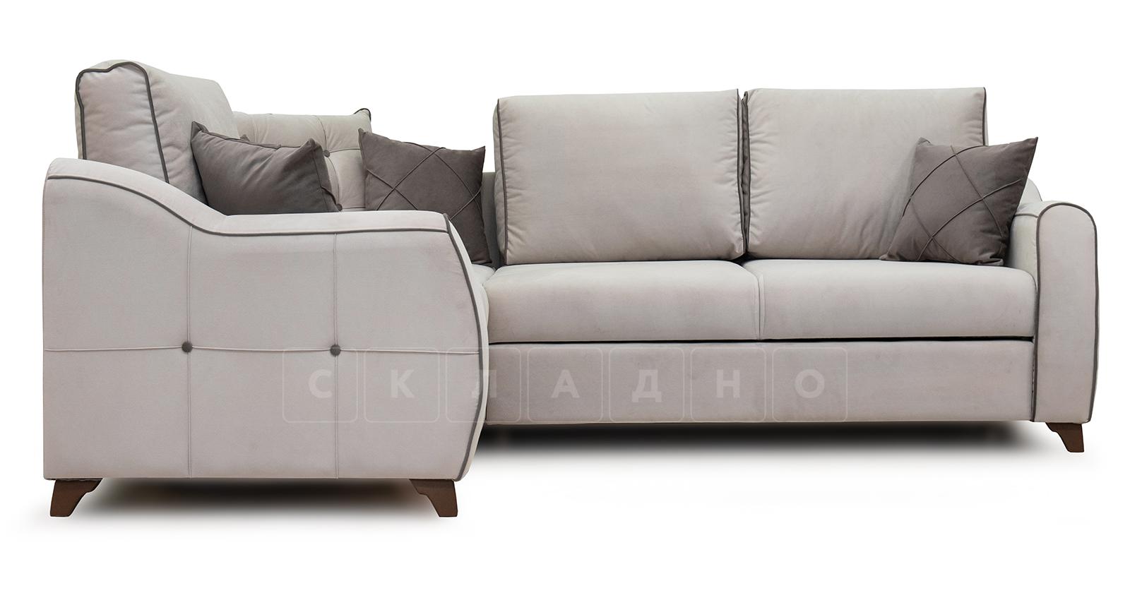 Диван-кровать угловой Флэтфорд серо-бежевый фото 2 | интернет-магазин Складно