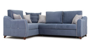 Диван-кровать угловой Флэтфорд серо-синий-15892 фото | интернет-магазин Складно
