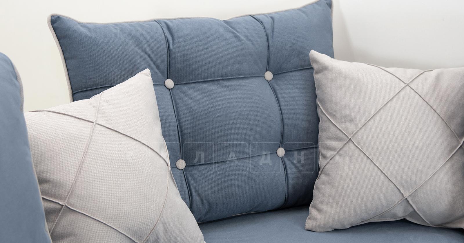 Диван-кровать угловой Флэтфорд серо-синий фото 11 | интернет-магазин Складно