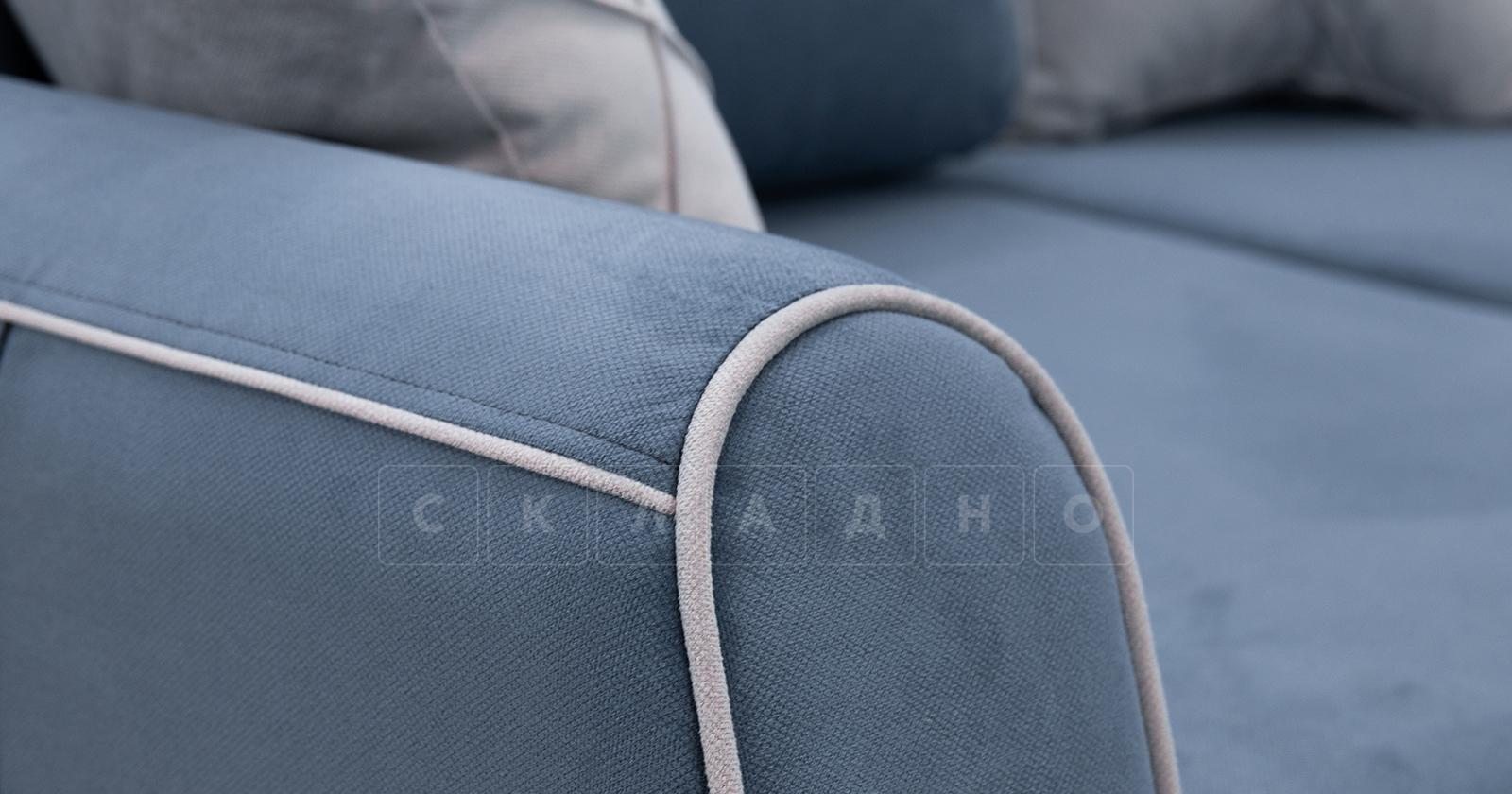 Диван-кровать угловой Флэтфорд серо-синий фото 13 | интернет-магазин Складно