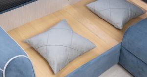 Диван-кровать угловой Флэтфорд серо-синий 63520 рублей, фото 16 | интернет-магазин Складно