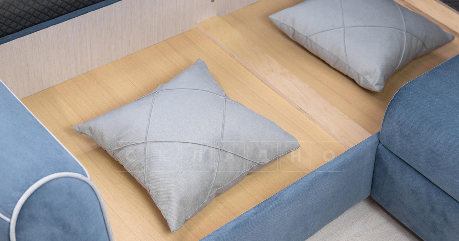 Диван-кровать угловой Флэтфорд серо-синий фото 16 | интернет-магазин Складно