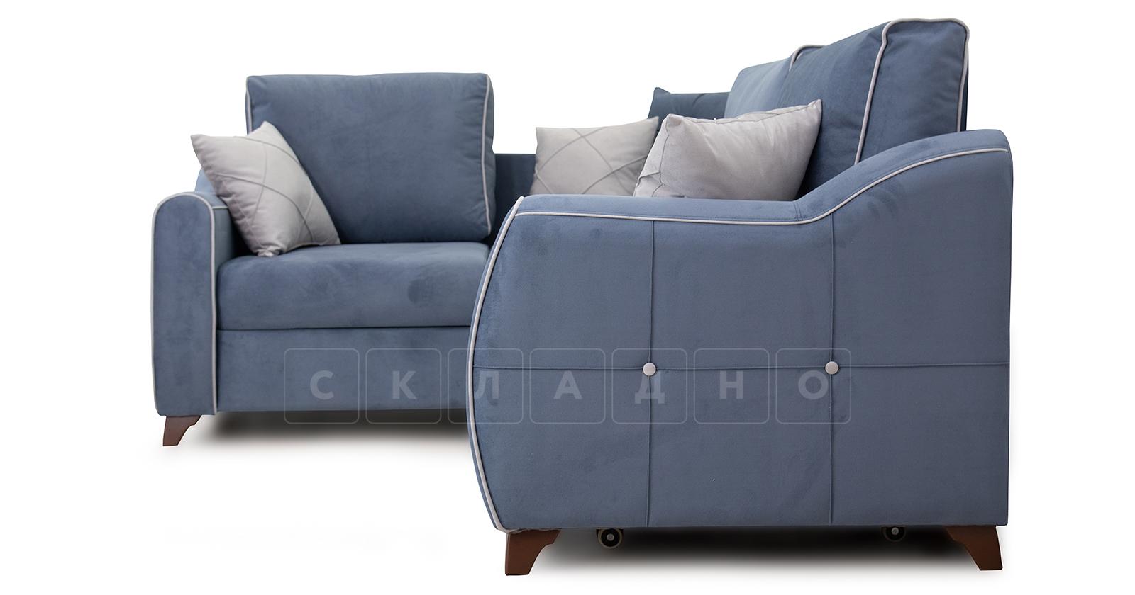 Диван-кровать угловой Флэтфорд серо-синий фото 3 | интернет-магазин Складно