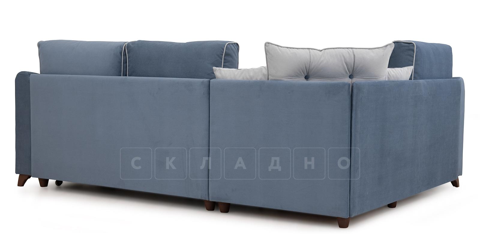 Диван-кровать угловой Флэтфорд серо-синий фото 4 | интернет-магазин Складно