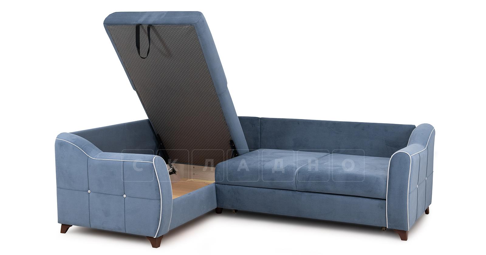Диван-кровать угловой Флэтфорд серо-синий фото 5 | интернет-магазин Складно