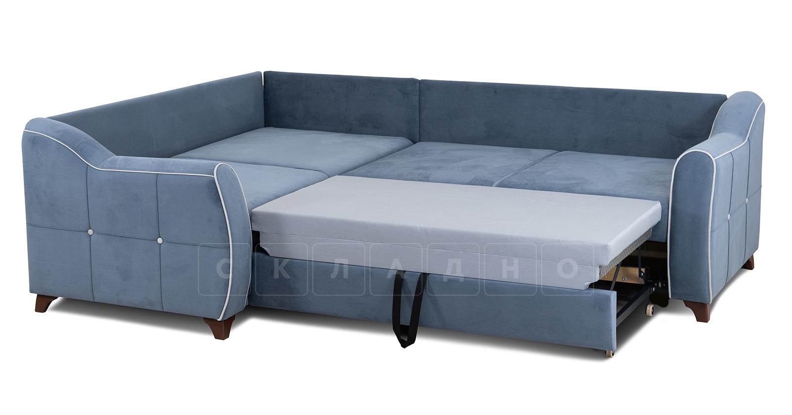 Диван-кровать угловой Флэтфорд серо-синий фото 6 | интернет-магазин Складно