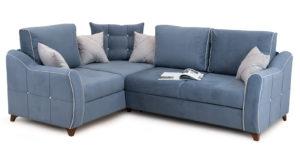 Диван-кровать угловой Флэтфорд серо-синий 63520 рублей, фото 7 | интернет-магазин Складно