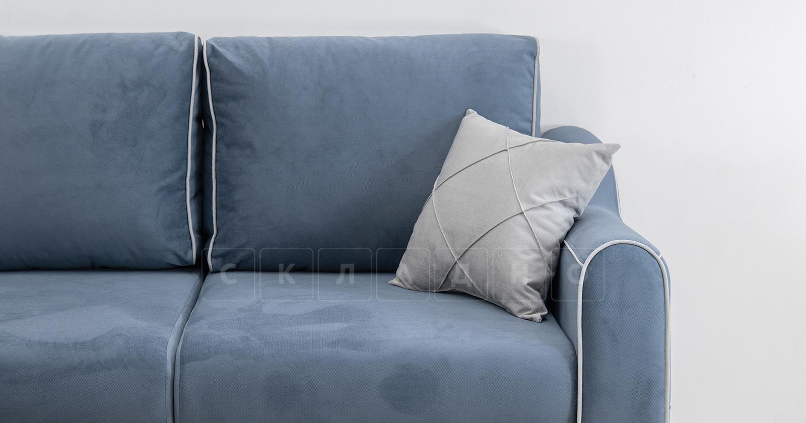 Диван-кровать угловой Флэтфорд серо-синий фото 8 | интернет-магазин Складно