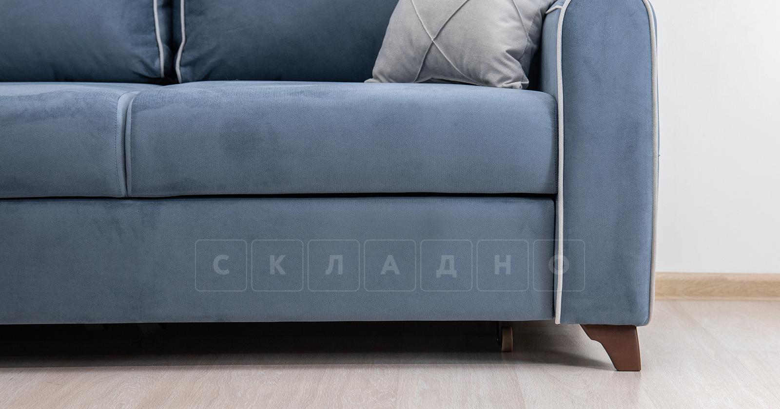 Диван-кровать угловой Флэтфорд серо-синий фото 9 | интернет-магазин Складно