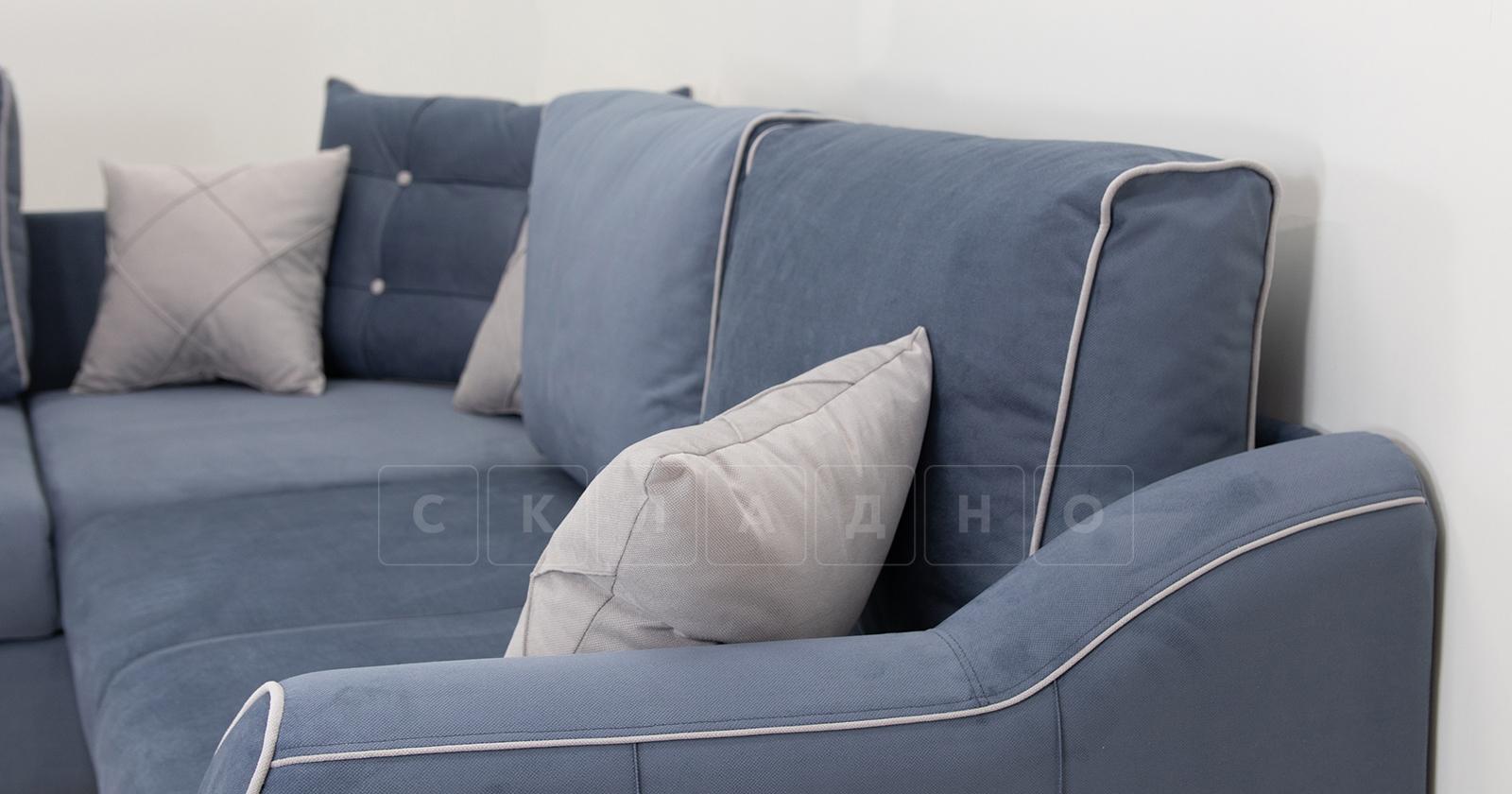 Диван-кровать угловой Флэтфорд серо-синий фото 10 | интернет-магазин Складно