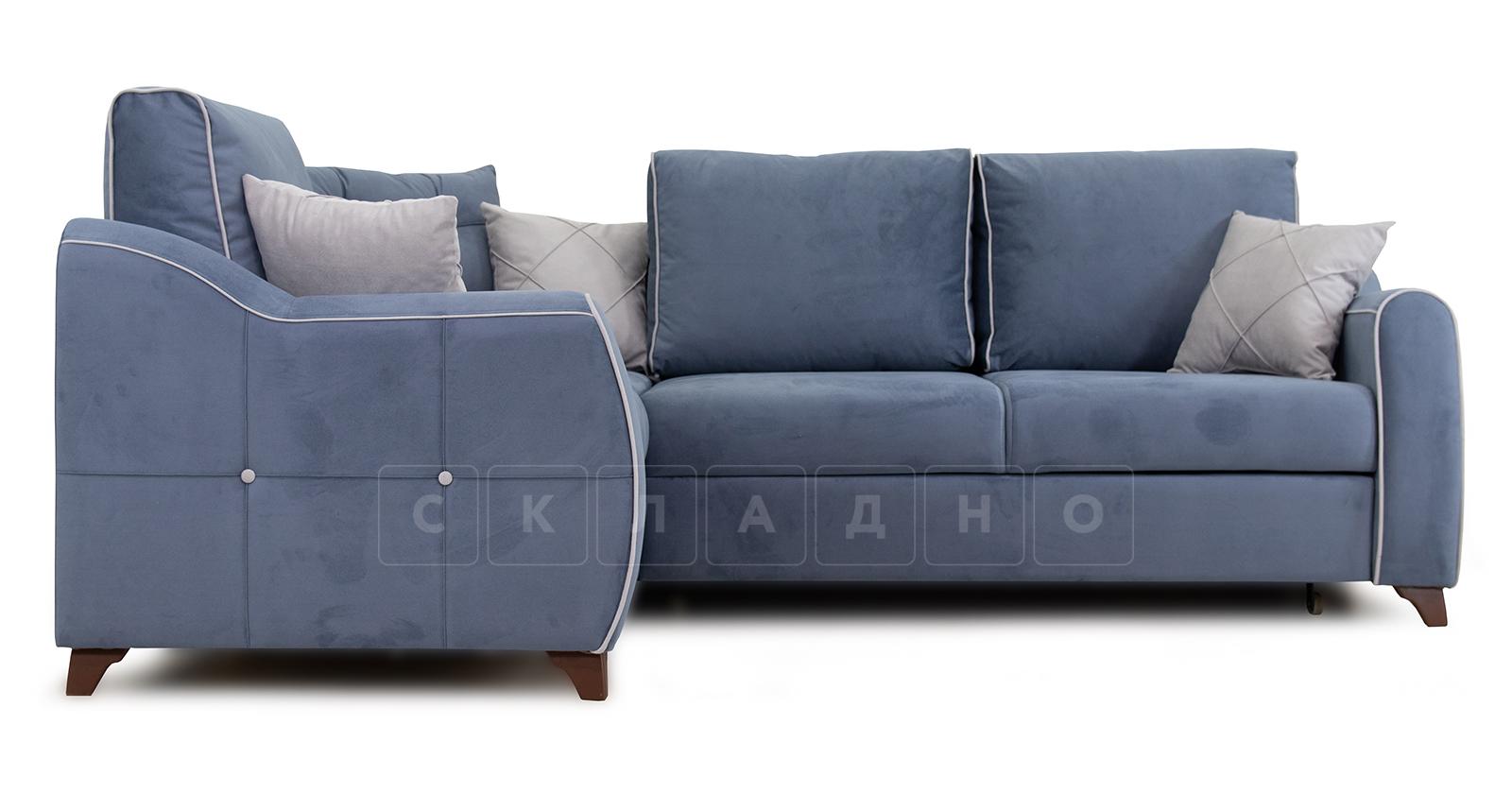 Диван-кровать угловой Флэтфорд серо-синий фото 2 | интернет-магазин Складно