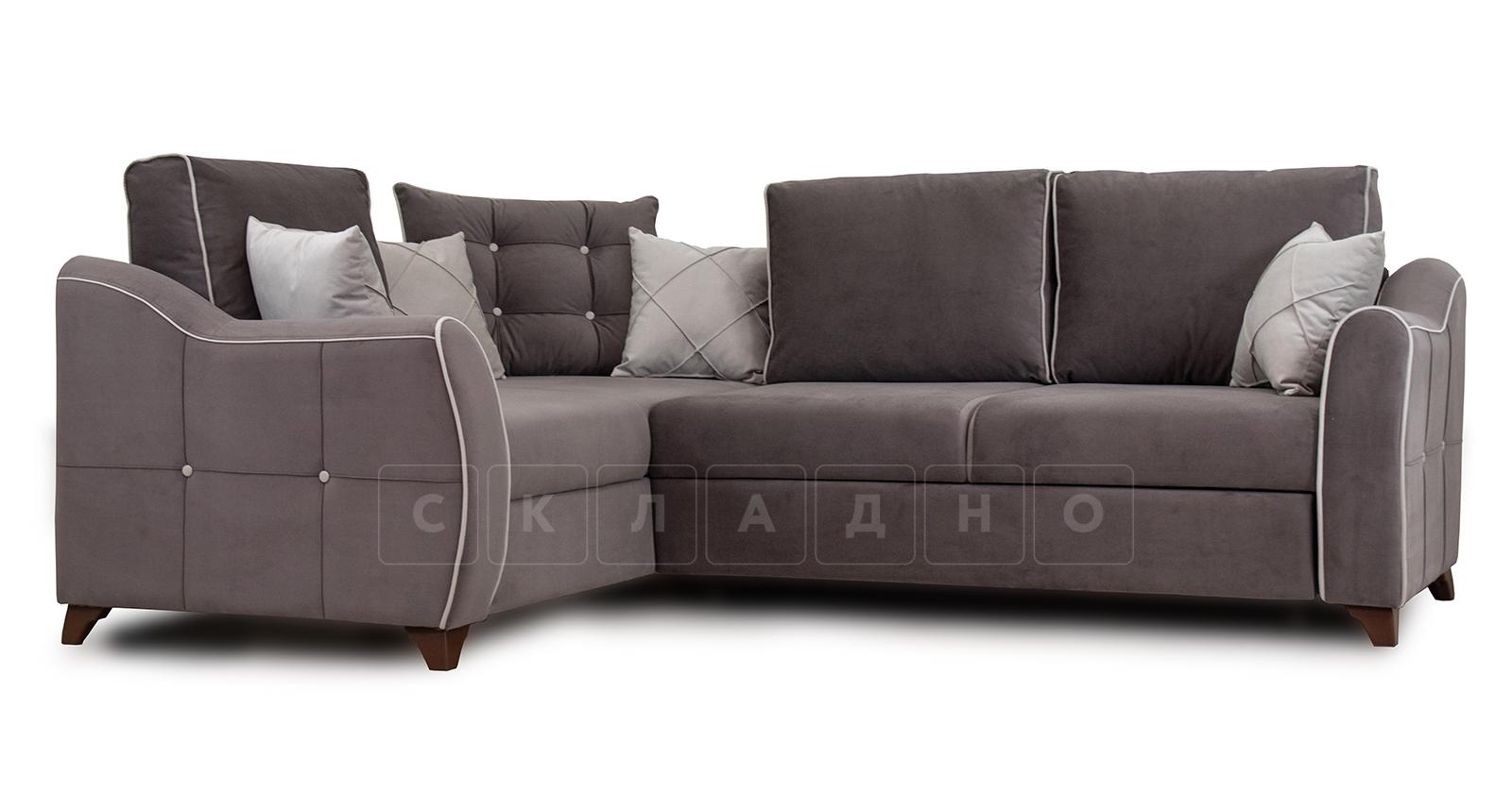 Диван-кровать угловой Флэтфорд шоколад фото 1 | интернет-магазин Складно