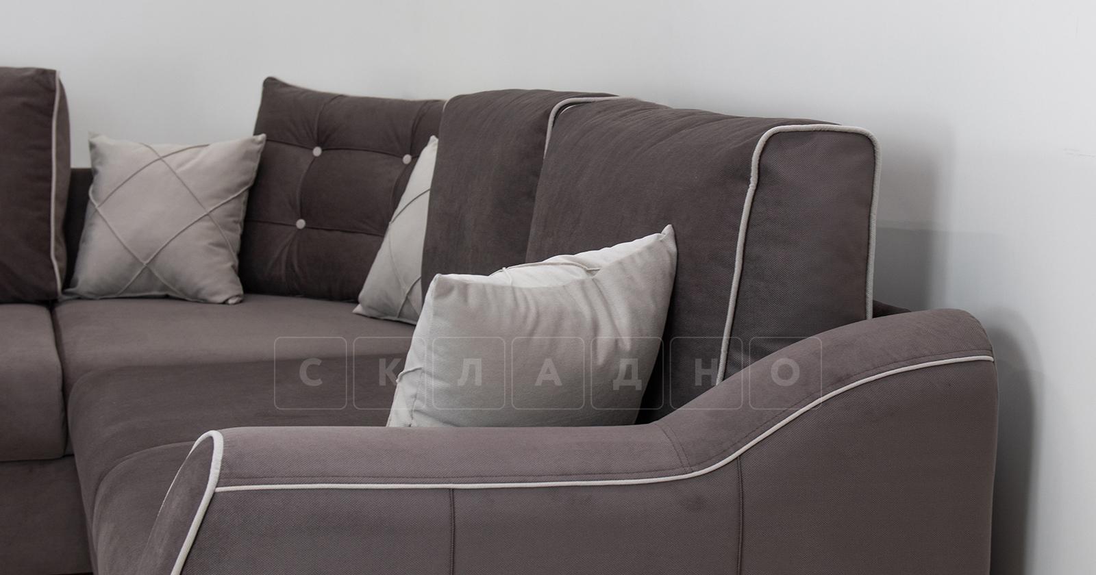 Диван-кровать угловой Флэтфорд шоколад фото 13 | интернет-магазин Складно