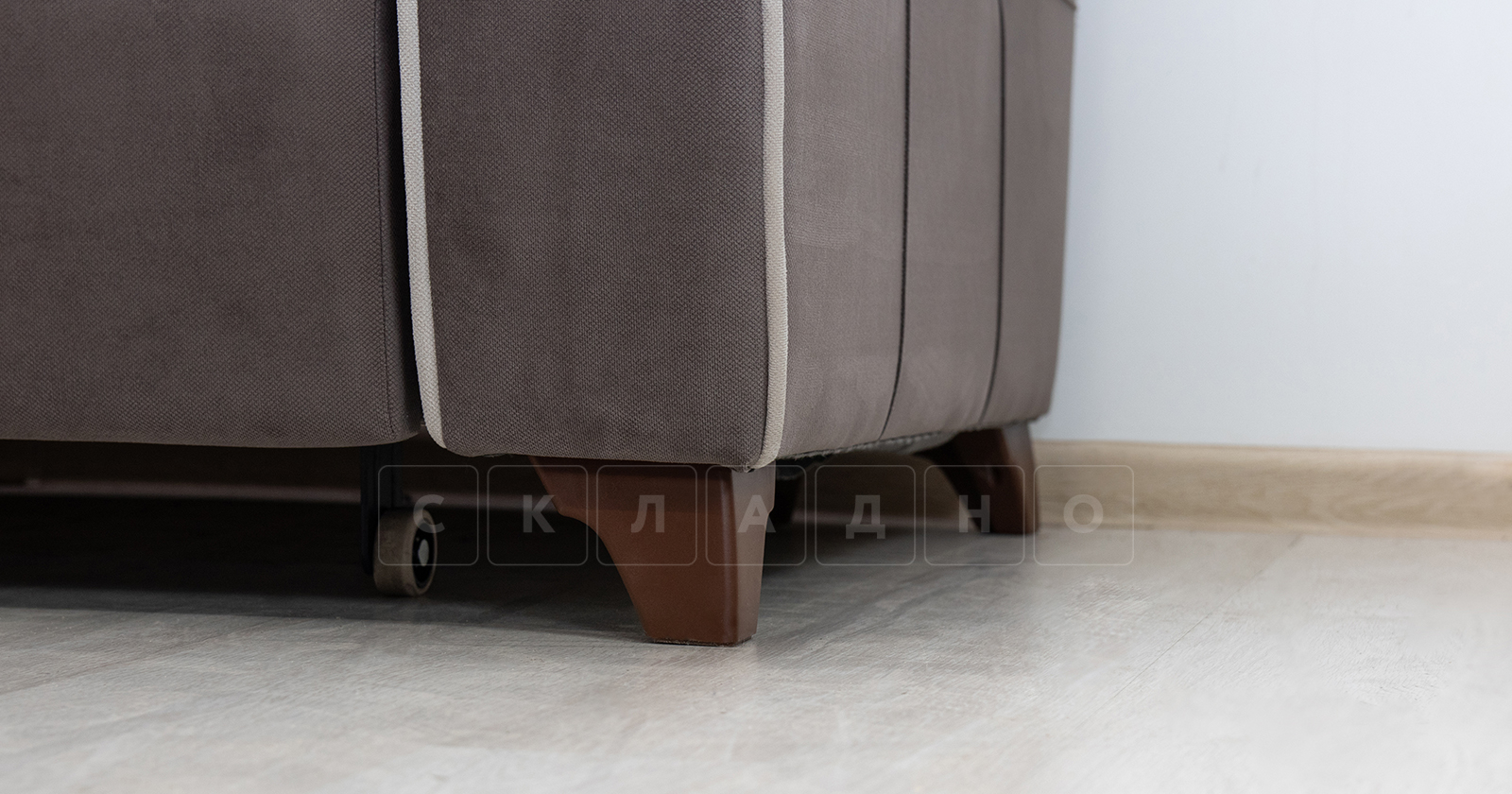 Диван-кровать угловой Флэтфорд шоколад фото 15 | интернет-магазин Складно