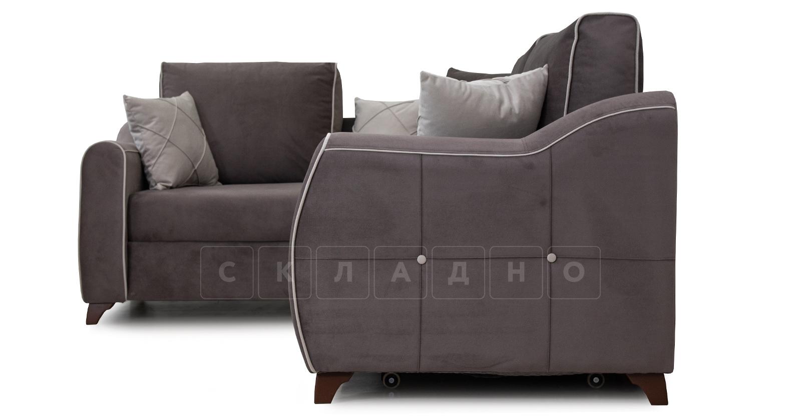Диван-кровать угловой Флэтфорд шоколад фото 3 | интернет-магазин Складно