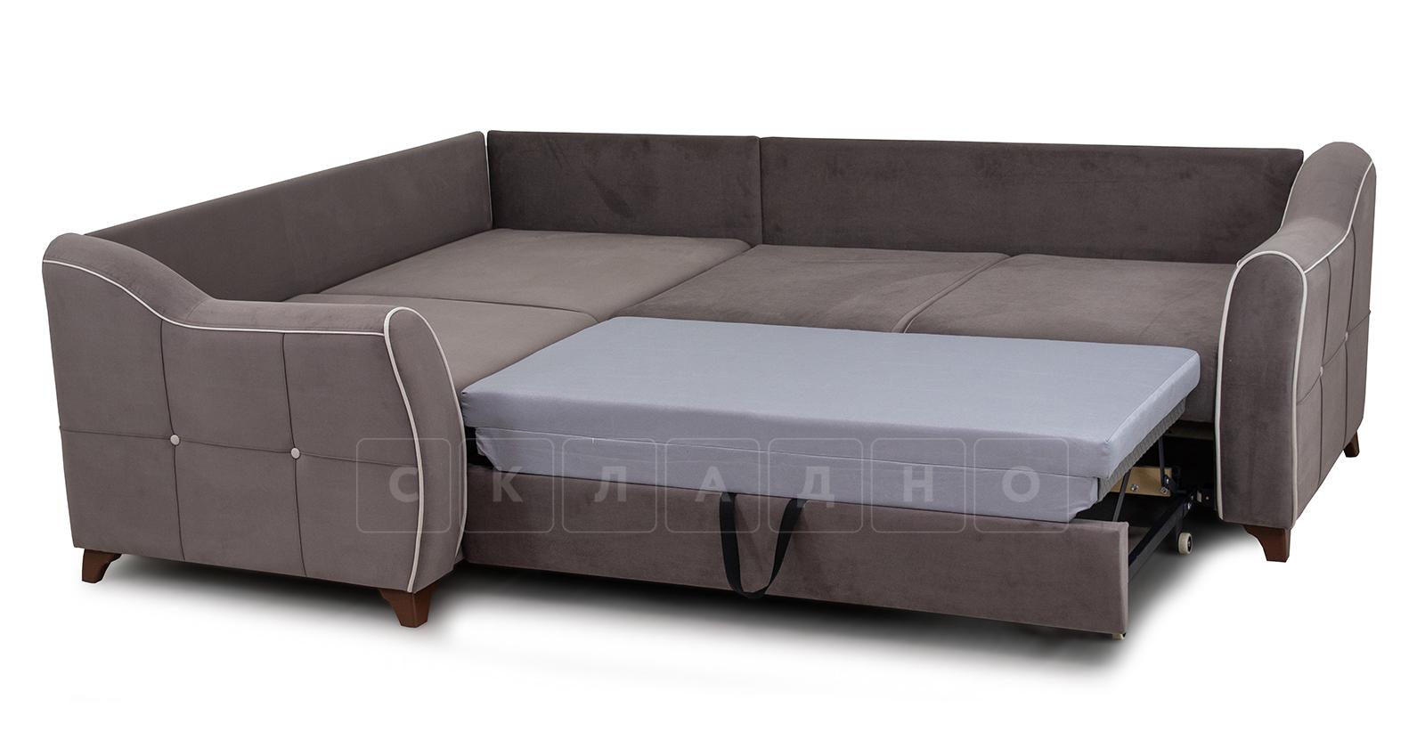 Диван-кровать угловой Флэтфорд шоколад фото 6 | интернет-магазин Складно