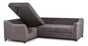 Диван-кровать угловой Флэтфорд шоколад 59990 рублей, фото 7 | интернет-магазин Складно