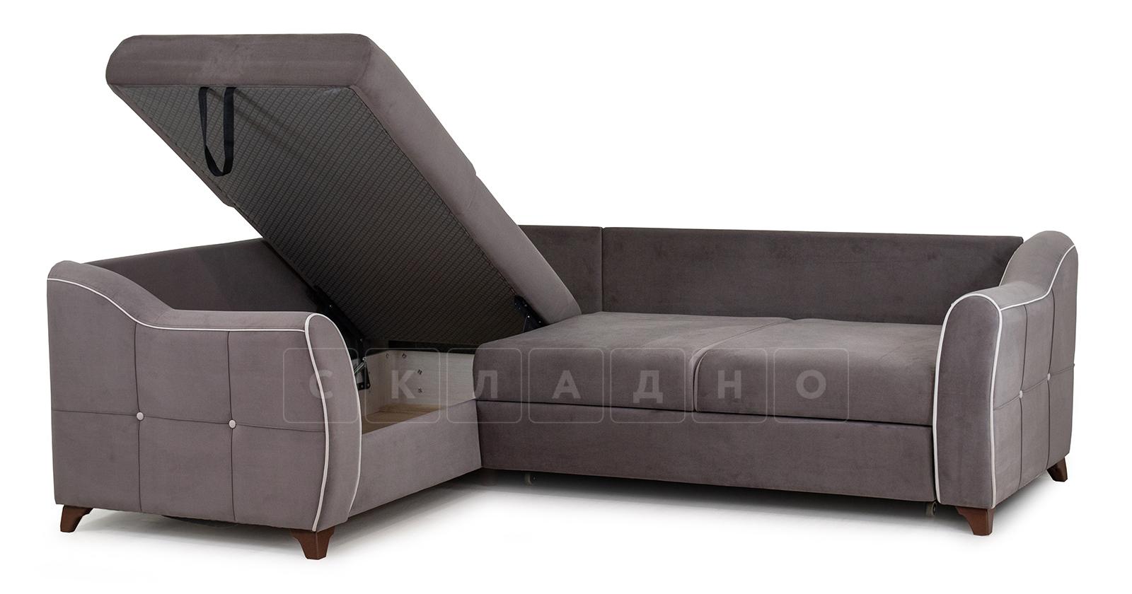 Диван-кровать угловой Флэтфорд шоколад фото 7 | интернет-магазин Складно