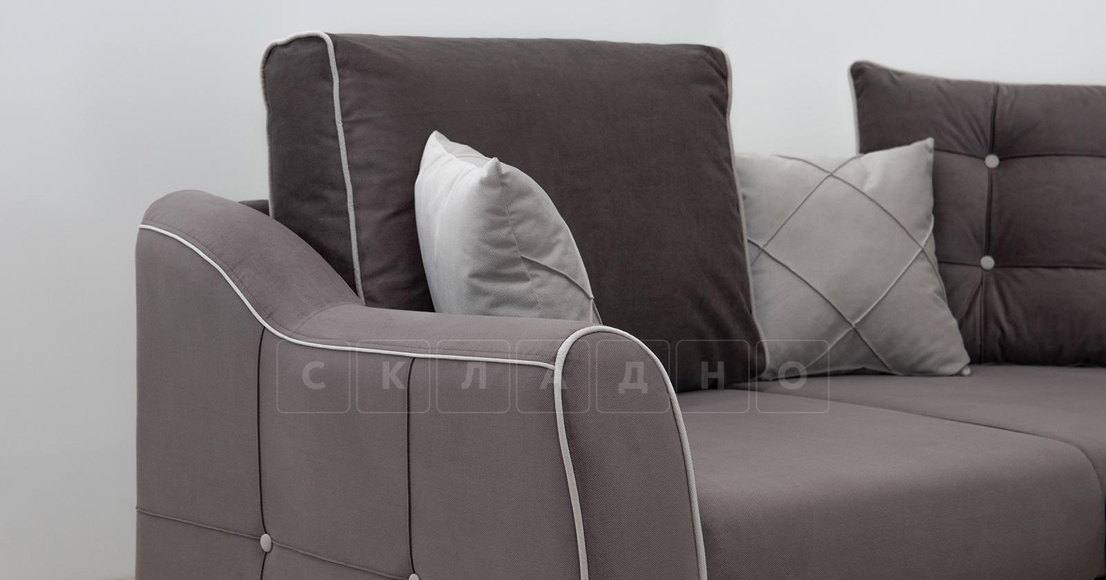 Диван-кровать угловой Флэтфорд шоколад фото 9 | интернет-магазин Складно