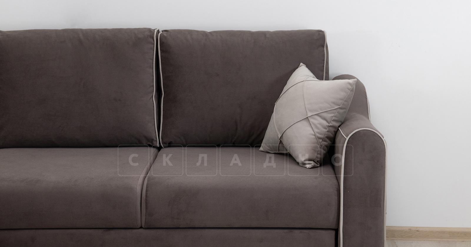 Диван-кровать угловой Флэтфорд шоколад фото 10 | интернет-магазин Складно