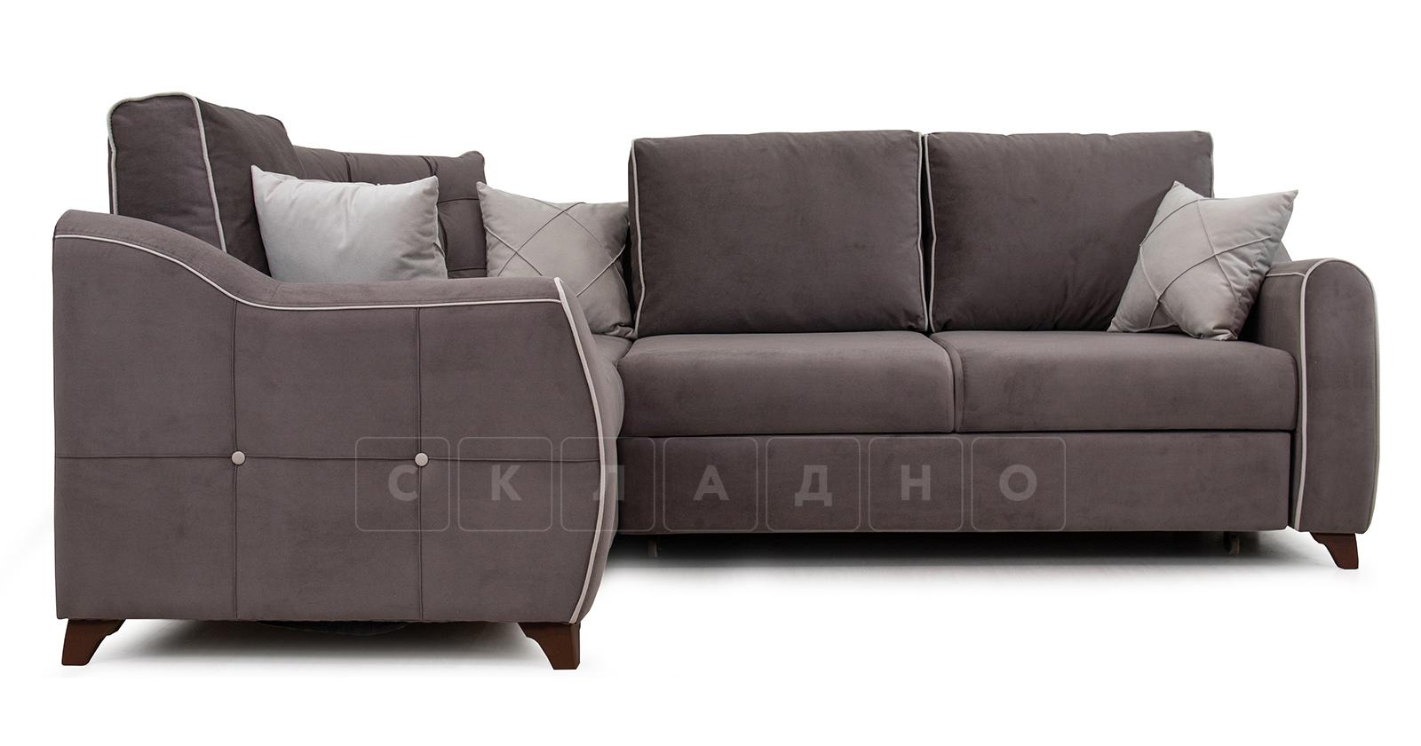 Диван-кровать угловой Флэтфорд шоколад фото 2 | интернет-магазин Складно