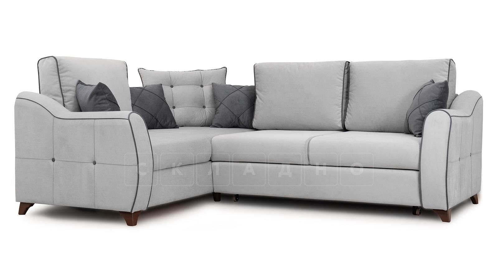 Диван-кровать угловой Флэтфорд светло-серый фото 1 | интернет-магазин Складно