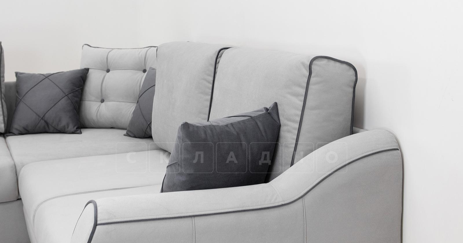 Диван-кровать угловой Флэтфорд светло-серый фото 13 | интернет-магазин Складно